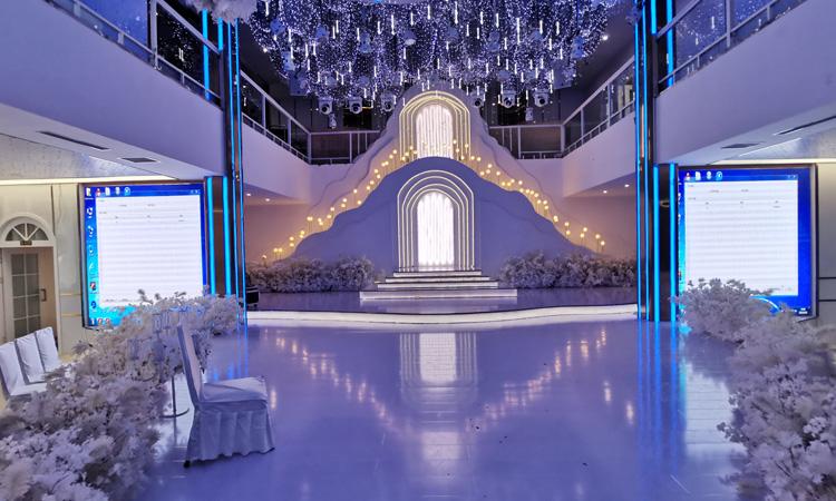 工程案例|热烈祝贺平顶山某酒店婚礼LED显示屏项目成功点亮并交付